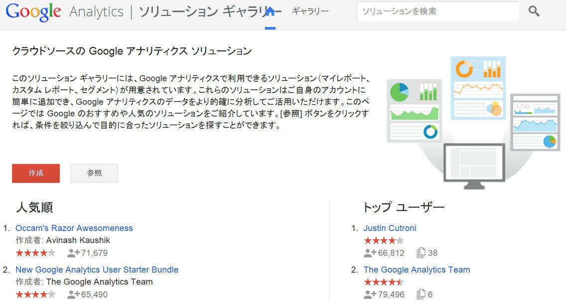 Googleアナリティクスソリューションギャラリー
