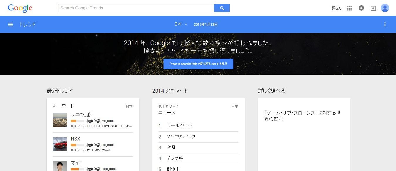 Googleトレンド