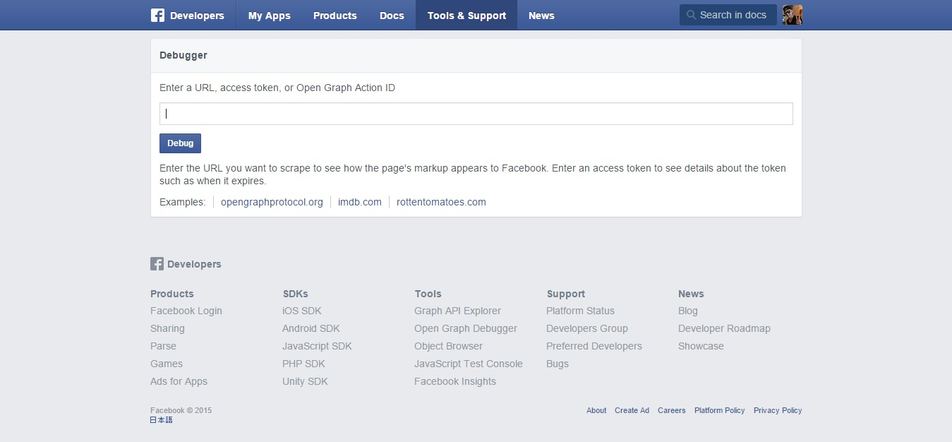 Open Graph Debugger - Facebook Developers