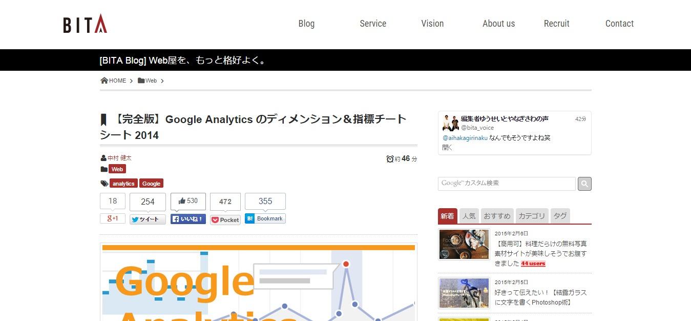 【完全版】Google Analytics のディメンション&指標チートシート 2014