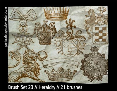 Brush Set 23 - Heraldry