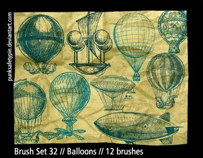 Brush Set 32 - Balloons