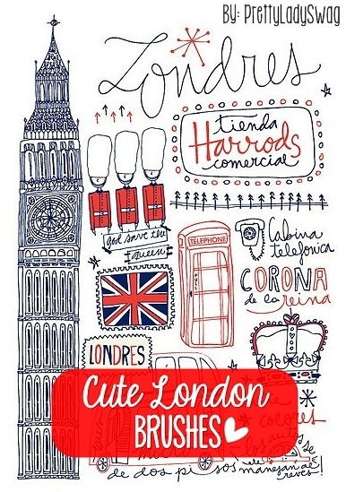 Cute London Brushes