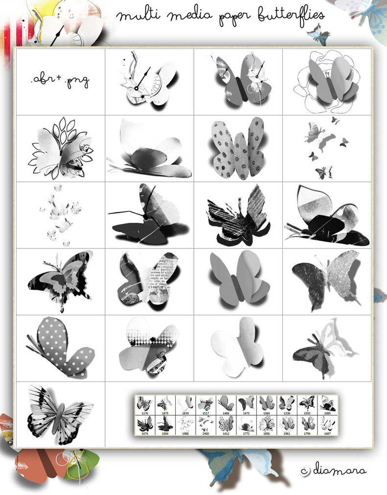 MultiMedia Paper Butterflies