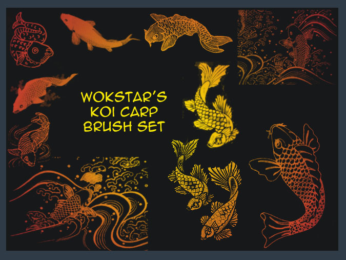 Koi Carp Brushes