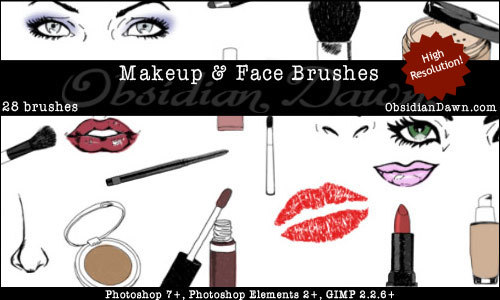 Makeup + Face Sketches Brushes