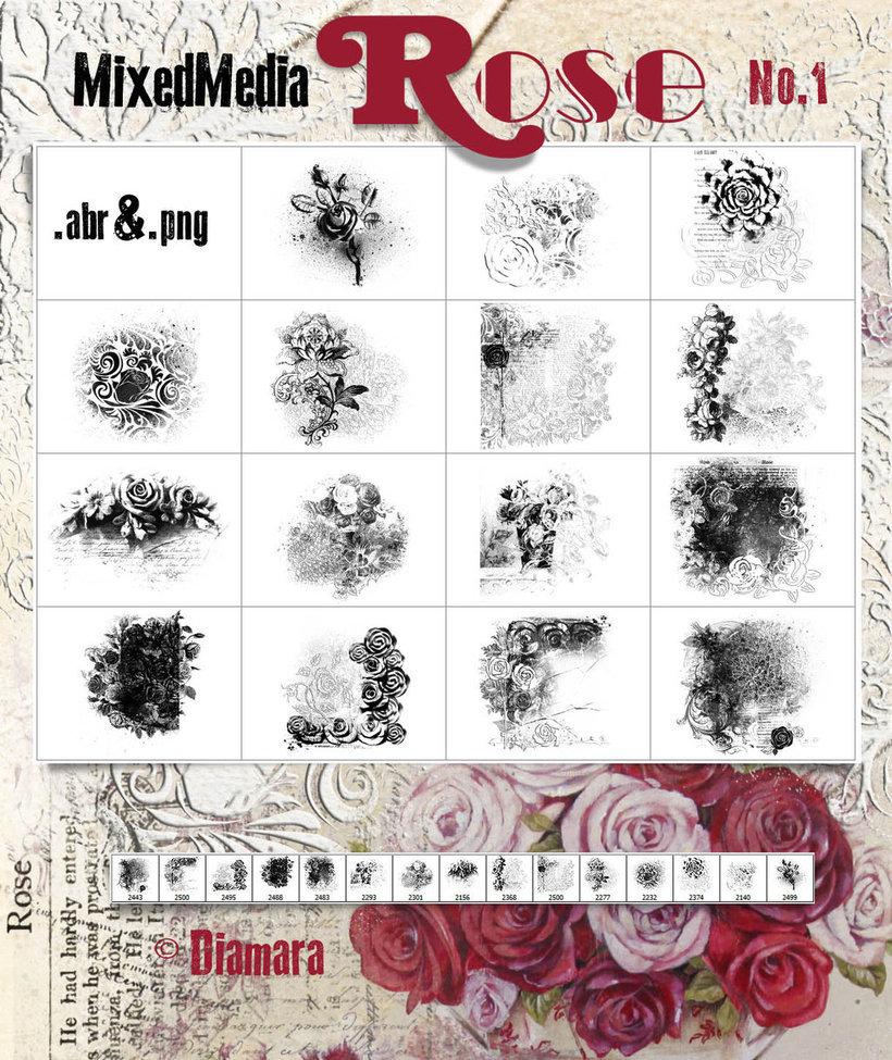 MixedMedia Rose No.1