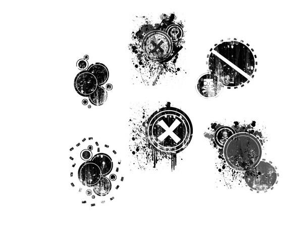 Retro Grunge Circles