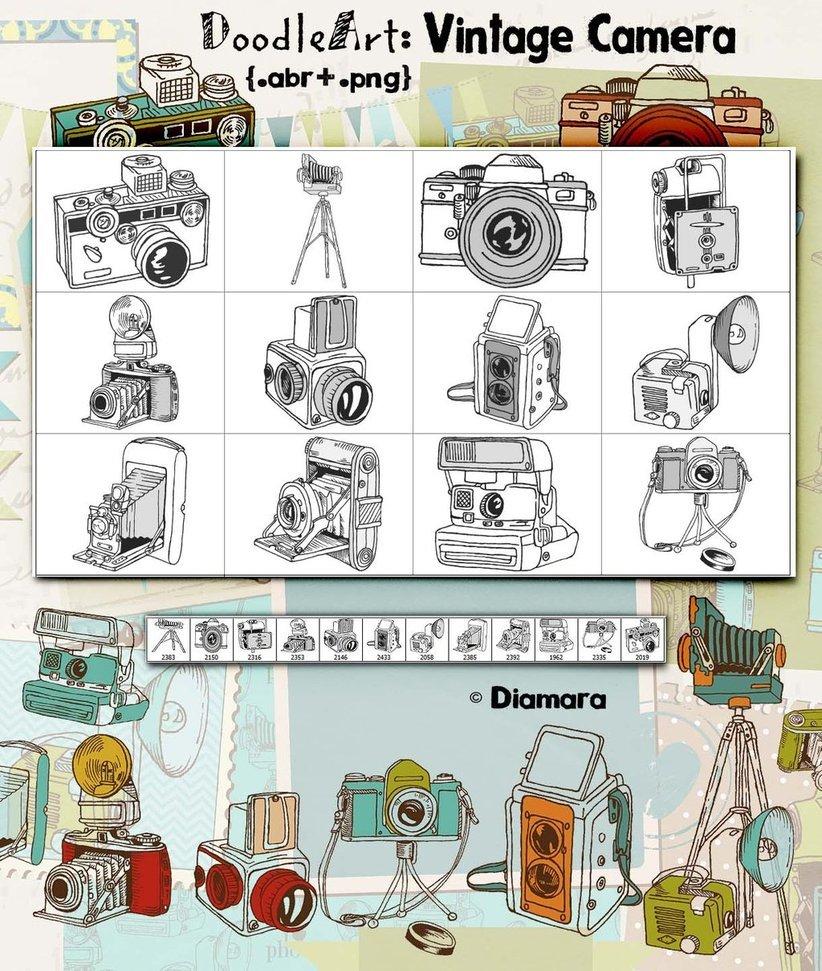 DoodleArt Vintage Camera