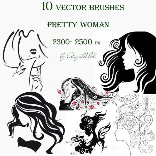 vector brushes Pretty Woman
