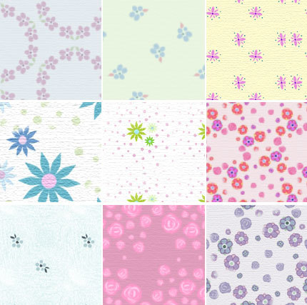 Dusty Florals - pattern set