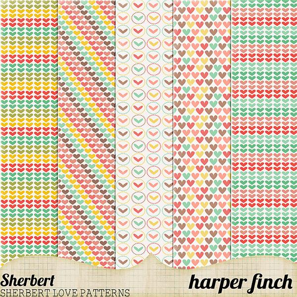 Sherbet Heart Patterns