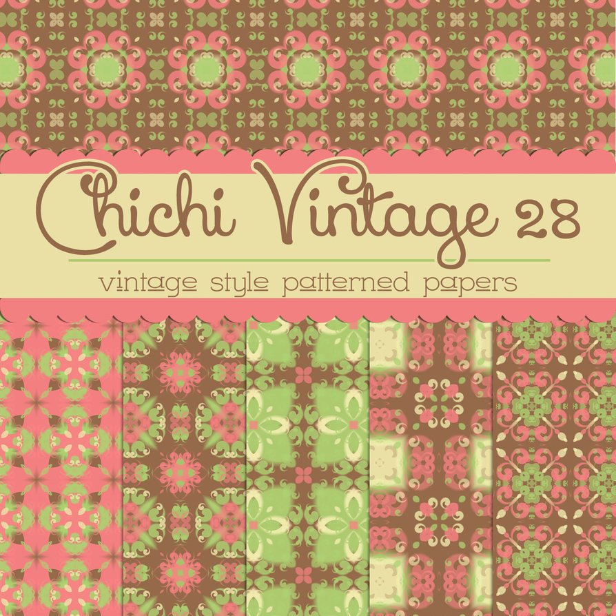 Free Chichi Vintage 28 Patterned Papers