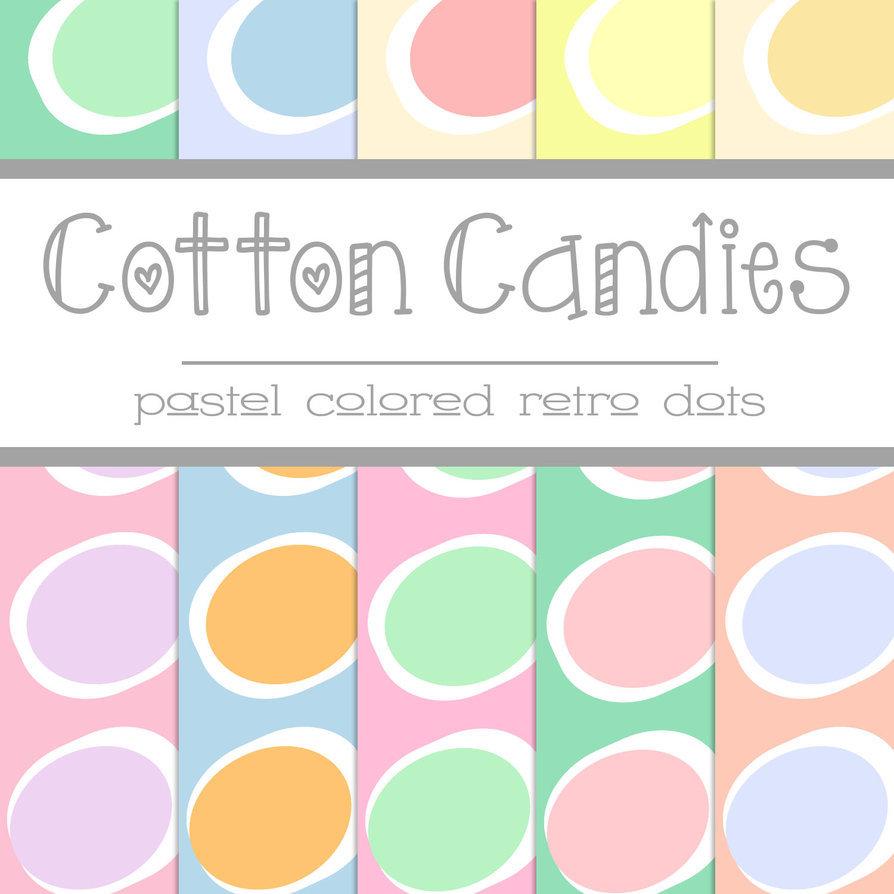 Free Cotton Candies: Pastel Retro Dots