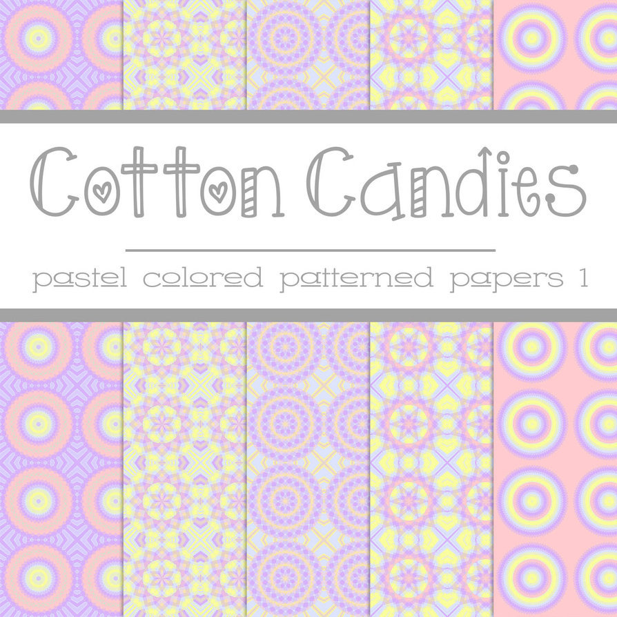 Free Cotton Candies: Pastel Patterned Papers