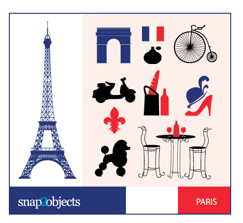 Free City Vector Icons: Paris