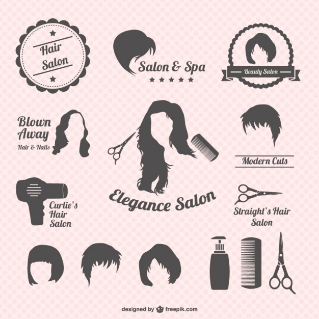 Hair salon graphics