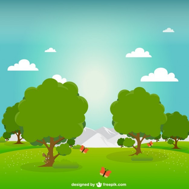 Green park vector illustration