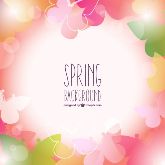 Spring pink vector free background