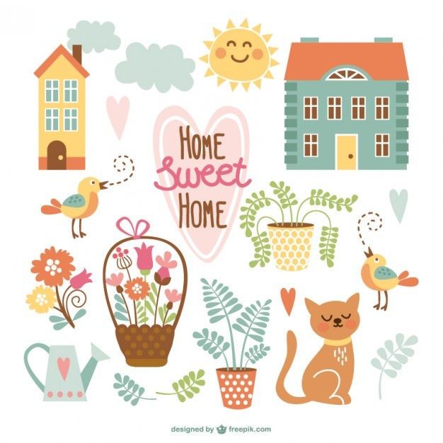 Home sweet home cute cartoons