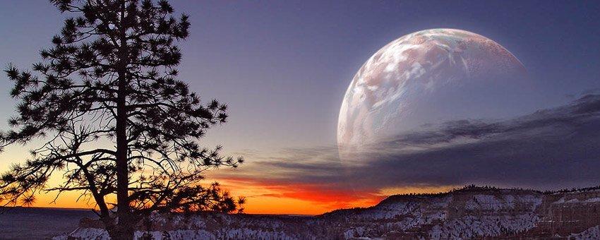 簡単なテクニックで風景画に惑星を合成する方法