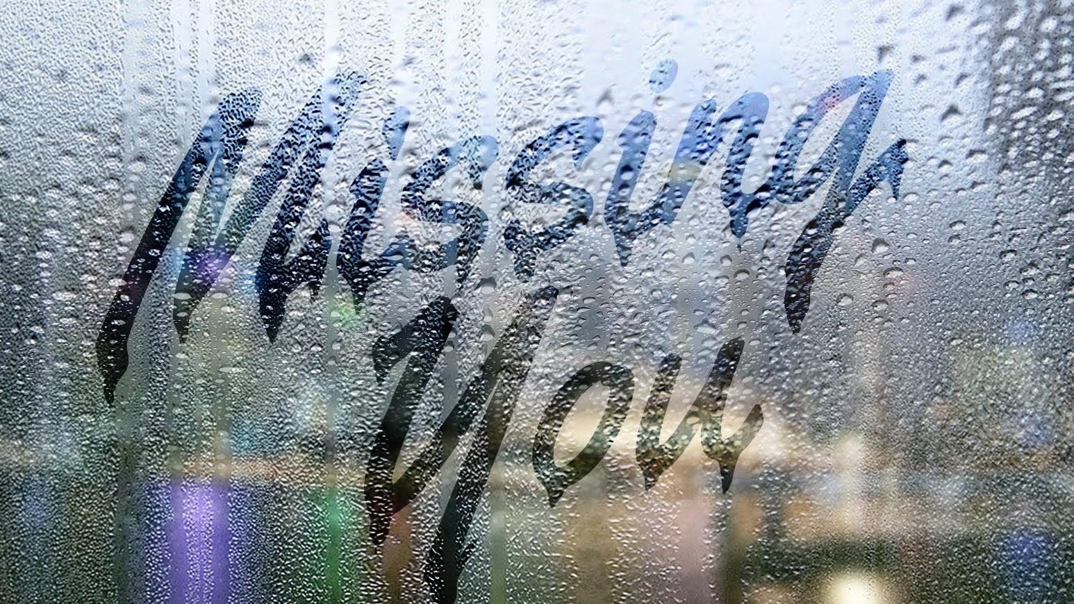 水滴のついた窓ガラスに文字を描く方法