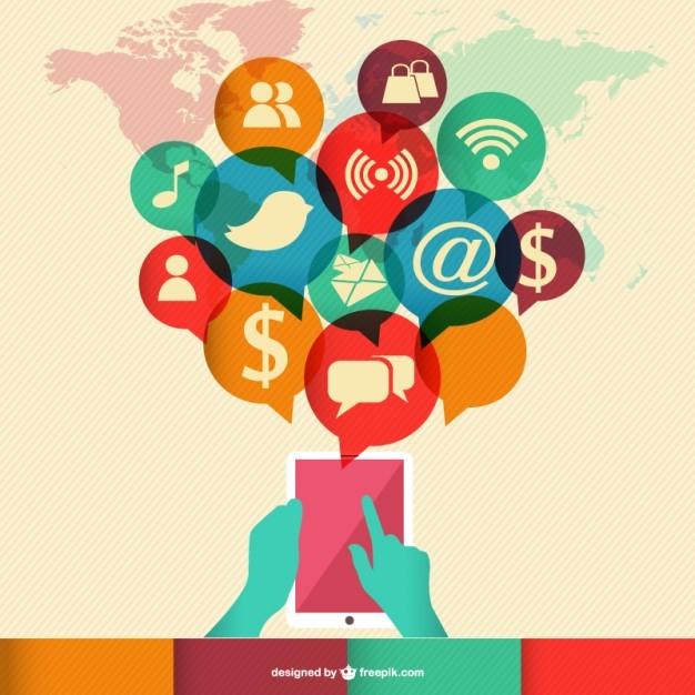 Communication technology free template