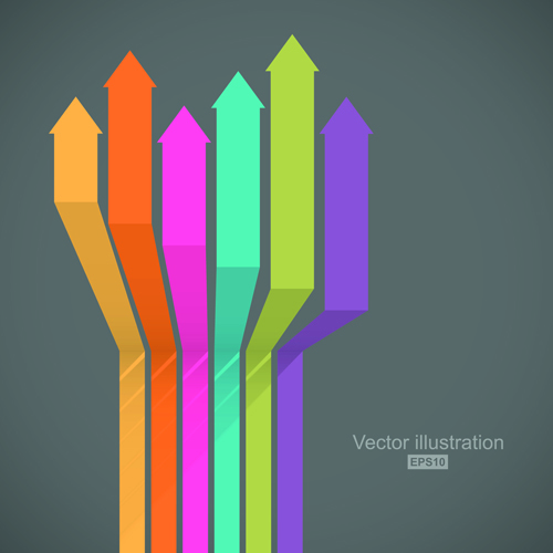 Creative colorful lines business template vector 01