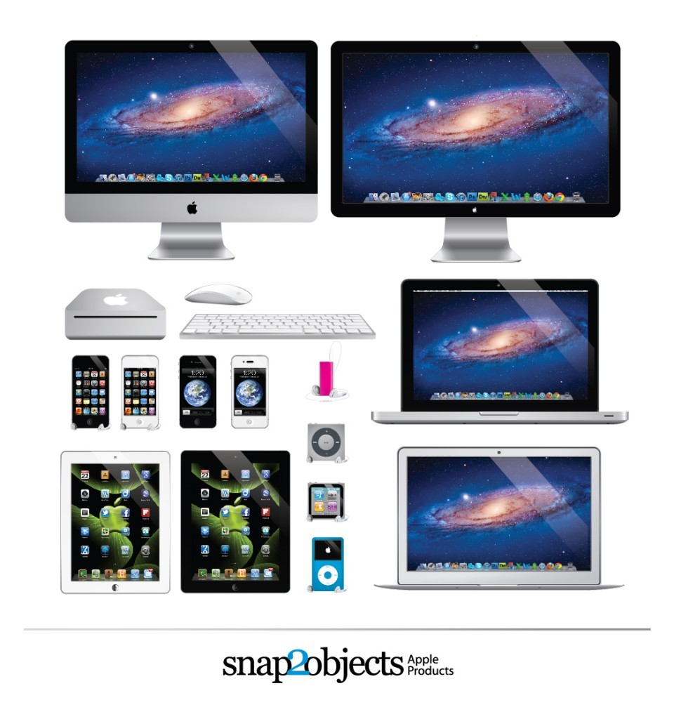 Free Photorealistic Vector Apple Products