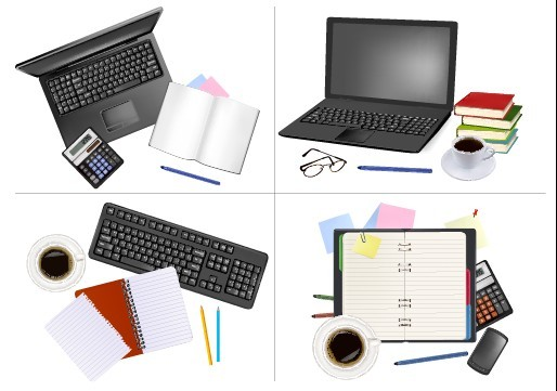 Set of Objects office vector graphics 01ト