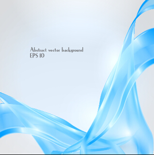Dynamic transparent blue ribbon vector background 01