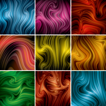 Colored dynamic abstract art vector 01