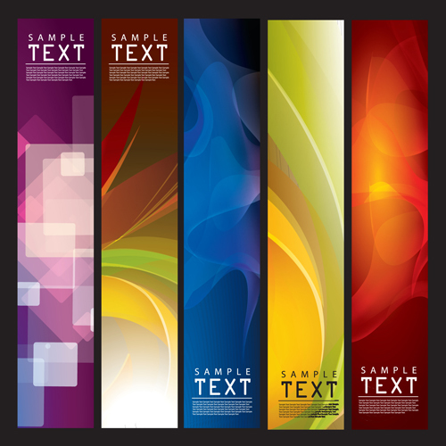 Set of Abstract vector backgrounds art 02