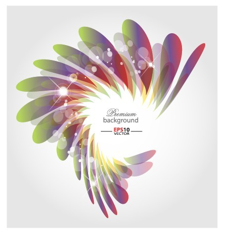 Abstract shapes shiny background vector 05