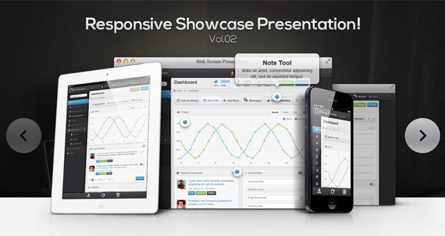 Responsive Showcase PSD vol.2