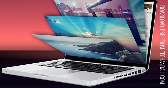 Multi-Screen Laptop Mock-Up