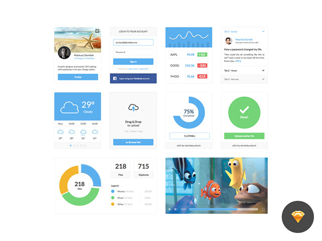 Clean UI Kit – Sketch