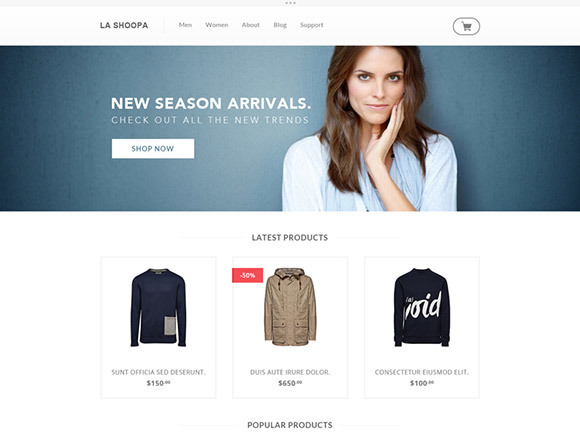 La Shoopa – PSD eCommerce Template