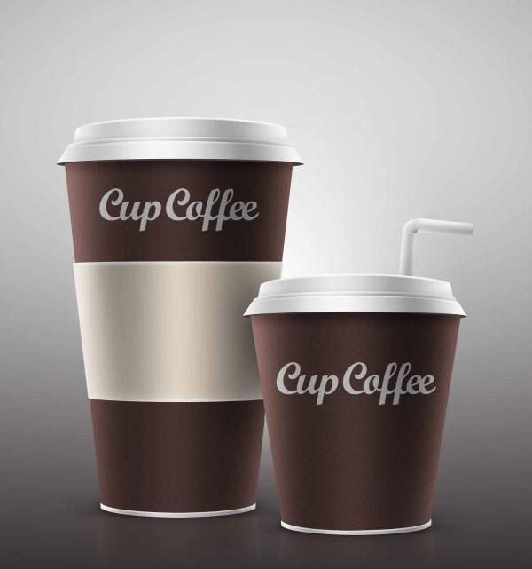 Paper cup coffee Layered PSD