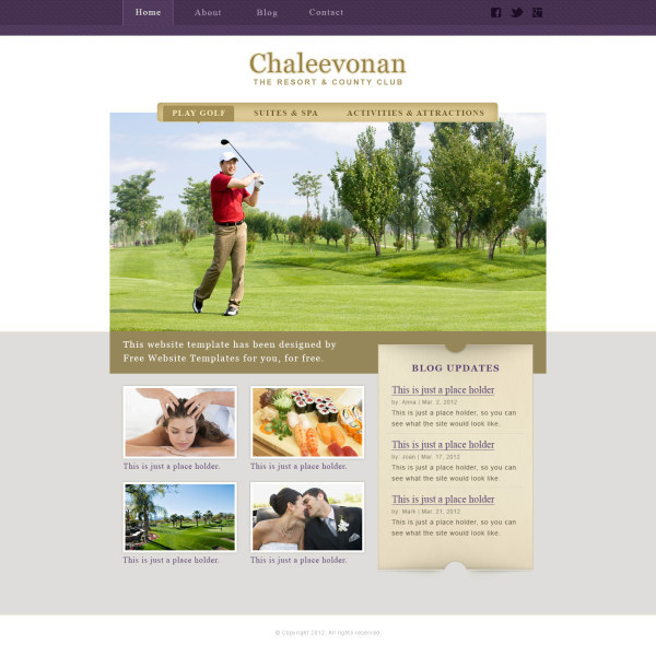 Sports & Leisure style website template