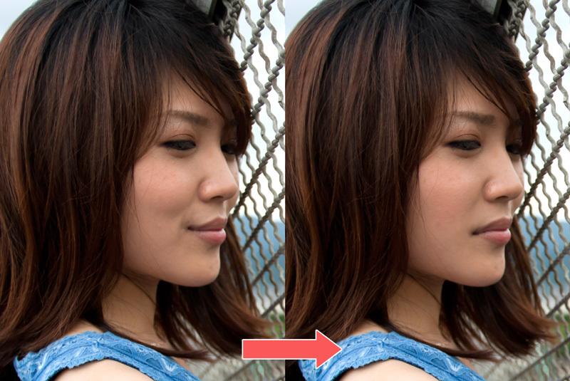 悲しそうな顔写真を笑顔の表情に変える方法