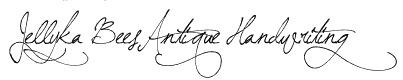 Jellyka BeesAntique Handwriting