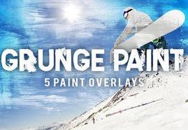 Grunge Paint Texture Overlays