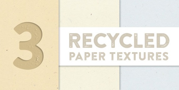 3 Recycled Paper Textures 3枚