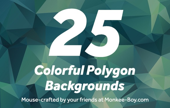 25 Colorful Polygon Backgrounds 25枚