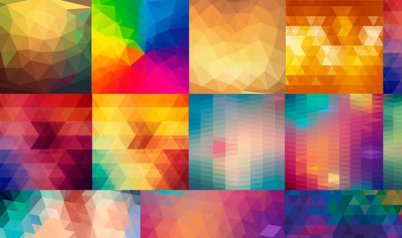 24 Vector Polygon Backgrounds 24枚