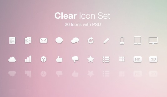 Clear Icon Set