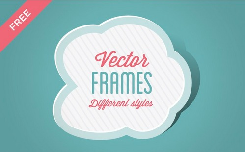 Free Vector Frames in 6 Different Styles