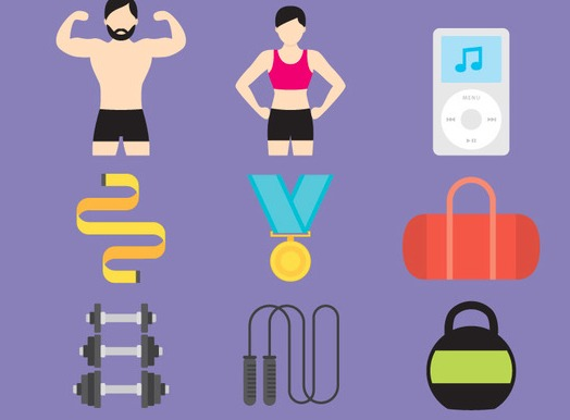 Gym And Health Vector Icons