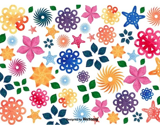 floral mosaic background